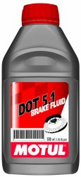 Motul DOT 5.1 High Temp. Brake Fluid 500ml (Pack of 2)