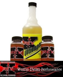 NEW FROM REV-X!!! REV-X Two 4 oz. Bottles / 8oz Bottle ULTIMATE Diesel Fuel Additive