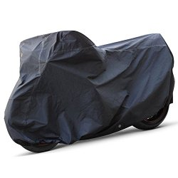 OxGord Executive Storm-Proof Motorcycle Cover – 100% Water-Proof 7 Layers – Ready-Fit / Semi Custom – Fits up to 111 Inches