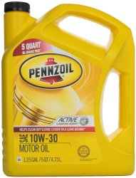 Pennzoil 550038360 10W-30 Motor Oil (SN/GF-5)  5qt. Jug