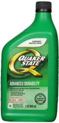 Quaker State 550024135 SAE 5W-30 Advanced Durability Motor Oil – 1 Quart