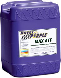 Royal Purple 05320 Max ATF High Performance Multi-Spec Synthetic Automatic Transmission Fluid – 5 gal.