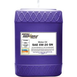 Royal Purple 05520 API-Licensed SAE 5W-20 High Performance Synthetic Motor Oil – 5 gal.