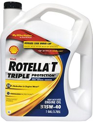 Shell Rotella 550019913-3PK T Triple Protection 15W-40 Heavy Duty Diesel Engine Oil – 1 Gallon (Pack of 3)
