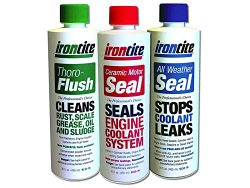 The 3 Pack of Irontite Additives – Thoro-Flush, All Weather Seal and Ceramic Motor Seal. 468-9190-16