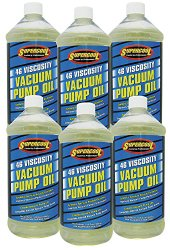 TSI Supercool 33713-6CP 46 Viscosity Synthetic Vacuum Pump Oil, 32 oz, 6 Pack