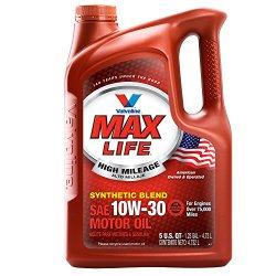 Valvoline 779462 MaxLife SAE 10W-30 High Mileage Motor Oil – 5 Quart