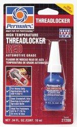 Permatex 27200 Hiigh Temperature Threadlocker Red, 10 ml