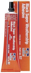 Permatex 81850-12PK Black Super Weatherstrip Adhesive, 5 oz. (Pack of 12)