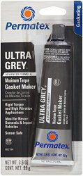 Permatex 82194-12PK Ultra Grey Rigid High-Torque RTV Silicone Gasket Maker, 3.5 oz. (Pack of 12)