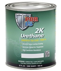 POR-15 43204 Black 2K Urathene HARDNOSE Paint – 1 quart