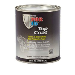 POR-15 45808 Gloss Black Top Coat – 1 pint
