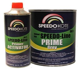 SpeedoKote SMR-210/211 – Automotive High Build 2K Urethane Primer Gray Gallon Kit, Fast Dry, Easy Sanding, Activator is included