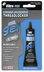 Vibra-TITE 125 Removable Medium Strength Gel Anaerobic Threadlocker, 8 ml Tube, Blue