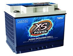 XS Power D4700 12V BCI Group 47 AGM Battery (Max Amps 2,900A, CA: 745 Ah: 50, 2000W / 3000W)