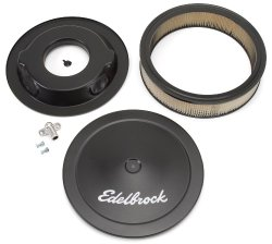 Edelbrock 1223 Pro-Flo Black Finish 3″ Round Air Filter Element with 14″ Diameter