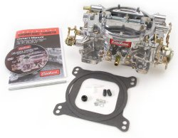 Edelbrock 1405 Performer 600 CFM Square Bore 4-Barrel Air Valve Secondary Manual Choke New Carburetor