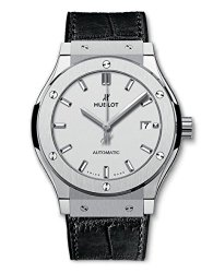 Hublot Classic Fusion Automatic Opaline Dial Titanium Mens Watch 542.NX.2611.LR