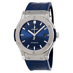 Hublot Classic Fusion Blue Sunray Dial Titanium Automatic Mens Watch 511.NX.7170.LR