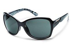 Suncloud Cassandra Polarized Sunglasses, Black Backpaint Frame, Gray Polycarbonate Lenses