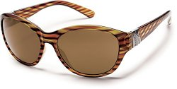 Suncloud Twilight Polarized Sunglasses, Tortoise Stripe Frame, Brown Polycarbonate Lenses