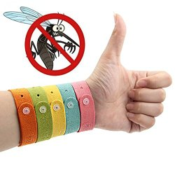 TC JOY Mosquito Repellent Bracelets Wristbands – 5 Pack All Natural Insect Bug Repellent Bracelet for Kids