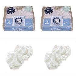Gerber Plastic Pants, 3T, Fits 32-35 lbs. (4 pairs)