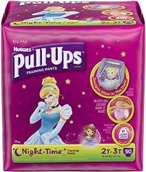 Huggies Pull-Ups Training Pants Night*Time – Girls – 2T-3T – 50 ct