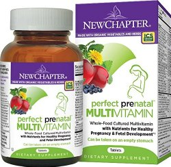 New Chapter Perfect Prenatal Vitamin Fermented with Probiotics + Folate + Iron  + Vitamin D3 + B Vitamins + Organic Non-GMO Ingredients – 192 ct