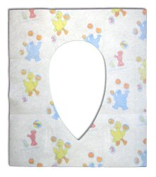 Sesame Street Potty Topper Disposable Stick-in-Place Toilet Seat Covers, 40-Count