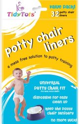 TidyTots Disposable Potty Chair Liners – Value Pack – Universal Potty Chair Fit (fits most potty chairs) – 32 Liners