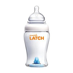 Munchkin Latch BPA-Free Baby Bottle, 8 Ounce, White