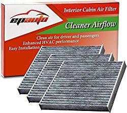 3 Pack – EPAuto CP285 (CF10285) Toyota / Lexus / Scion / Subaru Replacement Premium Cabin Air Filter includes Activated Carbon