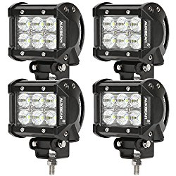 Auxbeam® 4 Pcs 4″ 18W LED Work Light Bar CREE Chips Flood Beam 60 degree Waterproof for Off-road ATV SUV Jeep Boat 4WD ATV Auxiliary Driving Lamp