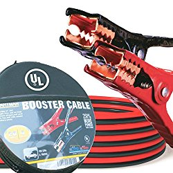 Cartman Booster Cable 4 Gauge x 20Ft in Carry Case UL Listed (EVA Case)
