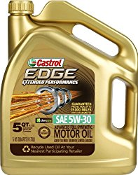 Castrol 03087-3PK EDGE Extended Performance 5W-30 Synthetic Motor Oil – 5 Quart, (Pack of 3)