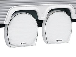 Classic Accessories 80-225-192302-00 White 40″ – 42″ Diameter x 9.25″ Width RV Deluxe Wheel Cover, (Pack of 4)