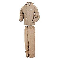 Frogg Toggs Pro Lite Rain Suit, Khaki, X-Large/XX-Large