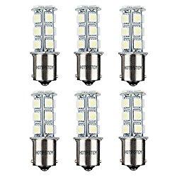 HOTSYSTEM 1156 7506 1003 1141 LED SMD 18 LED Bulbs Interior RV Camper Cool White 6-pack