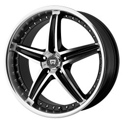 Motegi Racing MR107 Gloss Black Wheel With Machined Face (20×8.5″/5×114.3mm, +42mm offset)