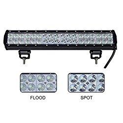 Nilight 17 Inch 108W Led Off Road Light Bar Spot Beam- 36pcs*3w High Intensity cree LEDS