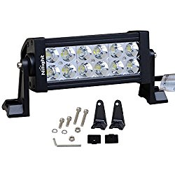 Nilight 7″ 36w Spot LED Work Light Off Road LED Light Bar 12v Driving Lights Super Bright for Jeep Cabin Boat SUV Truck Car ATVs,2 Years Warranty