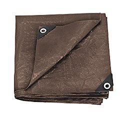 Stansport Reinforced Brown Rip-Stop Tarp, 5 x 7-Feet