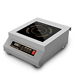 5000W Commercial Restaurant Electric Induction Cooktop Stainless Steel Frame, Induction Stove
