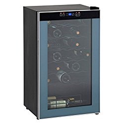 Avanti WC3406 34 Bottle Wine Chiller – with Stainless Trim Glass Door