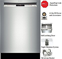 Bosch SHE68T55UC 800 24″ Stainless Steel Semi-Integrated Dishwasher – Energy Star