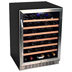 EdgeStar 53 Bottle Built-In Wine Cooler – Stainless Steel/Black
