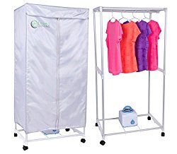 Simple Living Electric Portable Clothes Drying Rack – Compact Wardrobe dryer uses only 1000 Watts. Dries clothes within 30 Minutes.