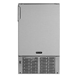 "Whynter MIM-14231SS 14"" Undercounter Automatic Marine Ice Maker with 23lb Daily Output, Stainless Steel"