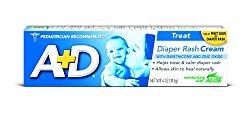 A&D Zinc Oxide Diaper Cream, 4 OZ (113 g)